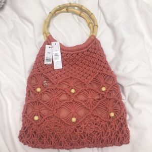 New Topshop crochet handbag